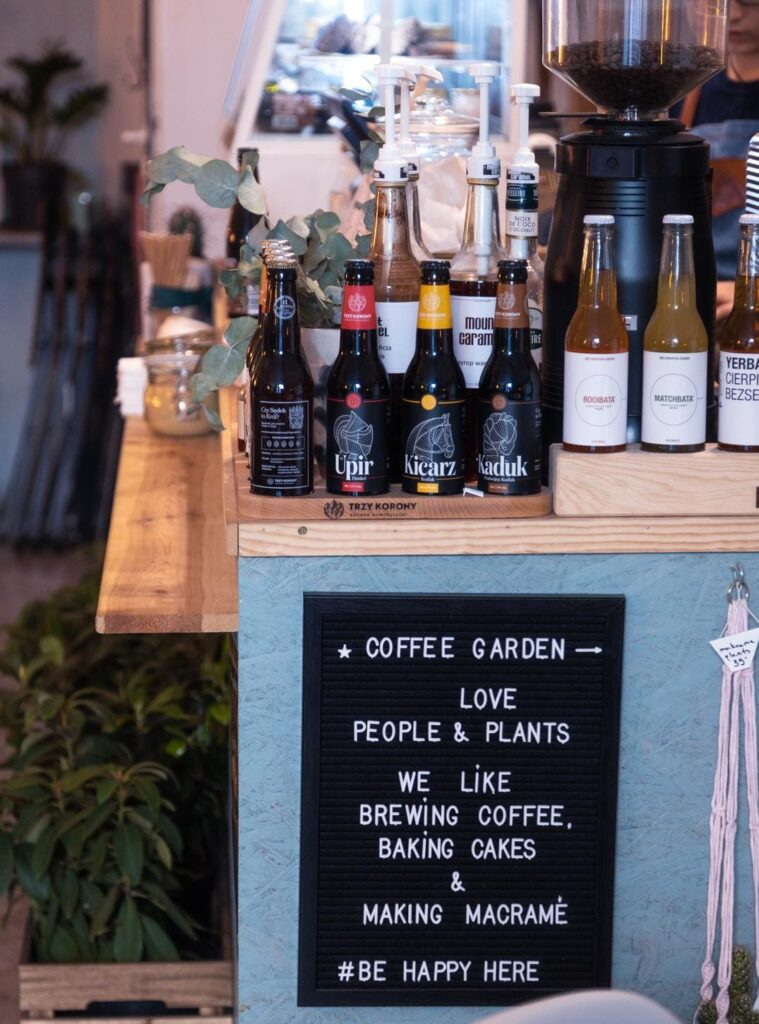 Craft coffeeshop example