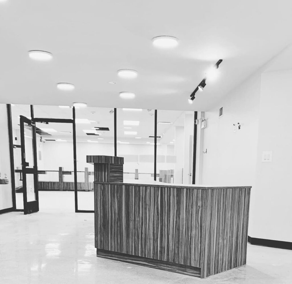 Dispensary front desk